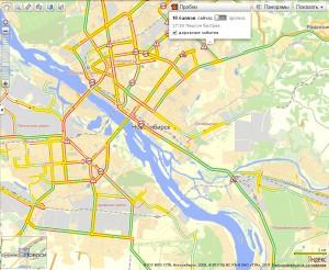 Пробка в Новосибирске в 10 баллов