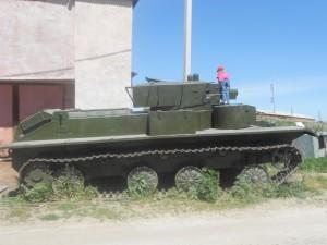 Т-26 на обочине дороги в Оеше