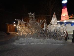Ледовый городок Новосибирск 2015