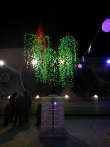 Красивое дерево - ледовый городок Новосибирска 2015
