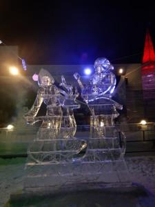 Дед Мороз и Снегурочка - ледовый городок Новосибирска 2015