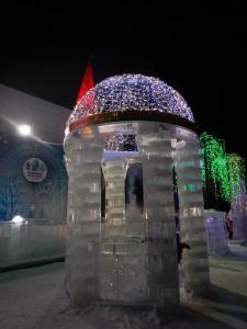 Беседка эльфов - ледовый городок Новосибирска 2015