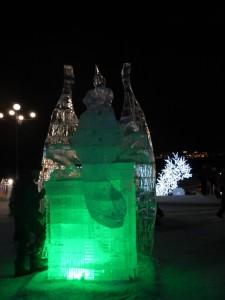 Дракон, ледовый городок Новосибирска 2015