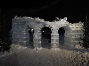 Руины - ледовый городок Новосибирска 2015