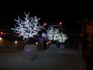Ледовый городок Новосибирска 2015 - лестница