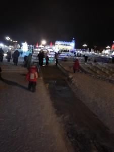 Ледовый городок Новосибирска 2015