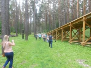 Зимняя горка в Томской писанице.